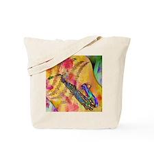 Colorful saxaphone Tote Bag