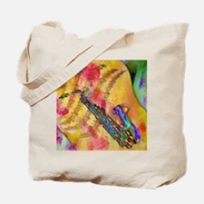 Colorful saxaphone Tote Bag
