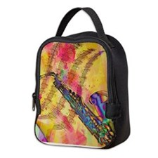Colorful saxaphone Neoprene Lunch Bag