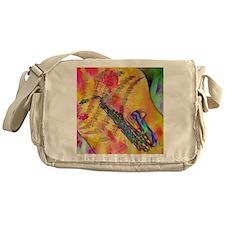 Colorful saxaphone Messenger Bag