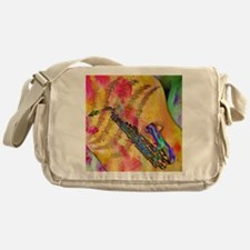 Colorful saxaphone Messenger Bag