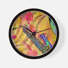 Colorful saxaphone Wall Clock