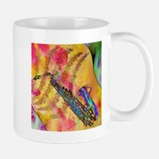 Colorful saxaphone Mugs