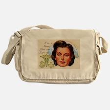 Vintage Nurses Don't Scare Messenger Bag