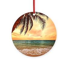 Ocean Sunset Ornament (Round)