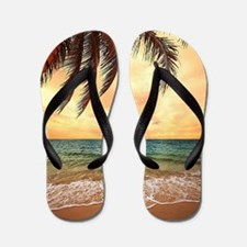 Ocean Sunset Flip Flops