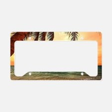 Ocean Sunset License Plate Holder