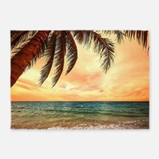 Ocean Sunset 5'x7'Area Rug
