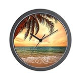 Beaches sunset Basic Clocks