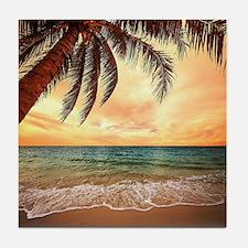 Ocean Sunset Tile Coaster