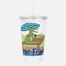 Gone Fishing Acrylic Double-wall Tumbler