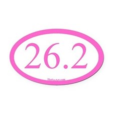 26.2 Running Oval Pink/pink Oval Car Magnet