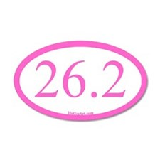 26.2 Running Oval Pink/Pink Wall Decal
