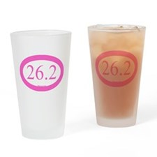 26.2 Running Oval Pink/Pink Drinking Glass