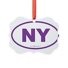 New York NY Euro Oval Ornament