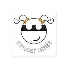 """Cancer Ninja Square Sticker 3"""" x 3"""""""