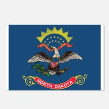 North Dakota Flag Postcards (Package of 8)