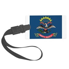 North Dakota Flag Luggage Tag