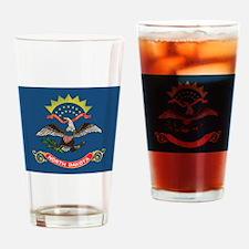 North Dakota Flag Drinking Glass