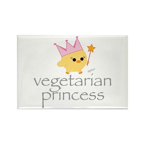Vegetarian Princess Rectangle Magnet (10 pack)