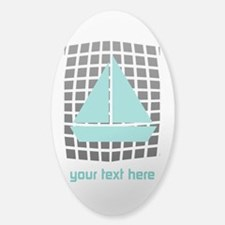 Cool Nautical Sailor Sticker (Oval)