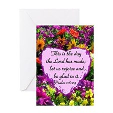 PSALM 118:24 Greeting Card
