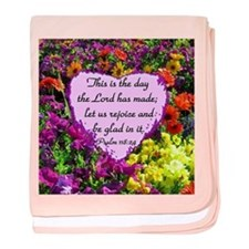 PSALM 118:24 baby blanket