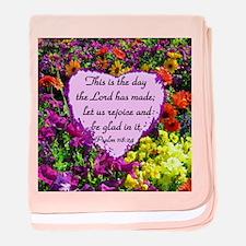 PSALM 118:24 baby blanket
