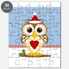 Santa Owl Art Holiday Puzzle