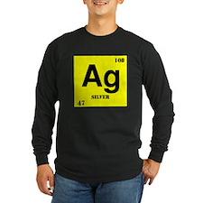 Silver Long Sleeve T-Shirt