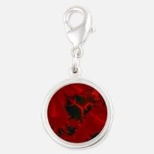 Red Fusions Fractal Art Charms
