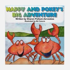 Happy and Pokey Cover Tile Coaster