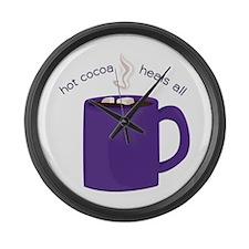 Hot Cocoa Large Wall Clock
