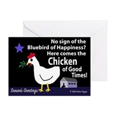 Chicken of Good Times Greeting Cards (Pack of 6)