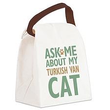 Turkish Van Cat Canvas Lunch Bag