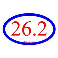 26.2 Running Oval Blue/Red Decal