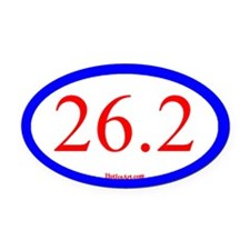26.2 Running Oval Blue/red Oval Car Magnet
