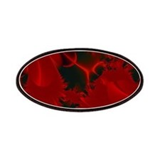Red Fusions Fractal Art Patches