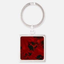 Red Fusions Fractal Art Keychains