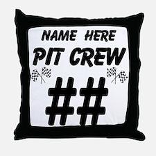 Pit Crew Throw Pillow