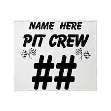 Pit Crew Throw Blanket