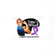 Lupus Stand Aluminum License Plate