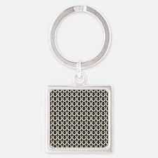 Horseshoe Pattern Square Keychain