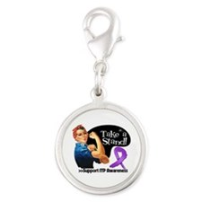 ITP Stand Silver Round Charm