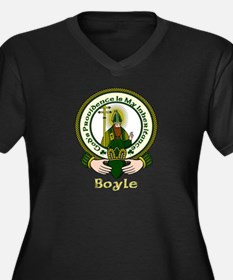 Boyle Clan Motto Plus Size V-Neck Dark Tee