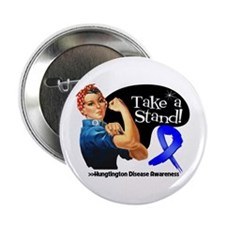 "Huntington Disease Stand 2.25"" Button"