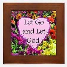 LET GO AND LET GOD Framed Tile