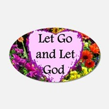 LET GO AND LET GOD Wall Decal