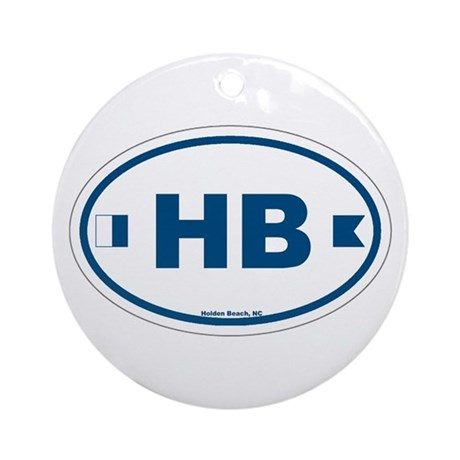 Holden Beach Ornament (Round)