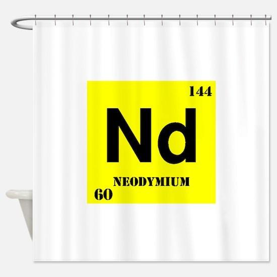 Neodymium Shower Curtain